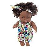 ZYCX123 Juguete de simulación muñeca Negro Africano niña del Negro Realista de la muñeca de 20 cm con Girasol Trajes de Trabajo para los niños Regalos Festivales
