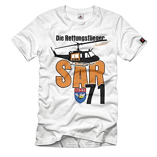 Die Rettungsflieger SAR 71 Search and Rescue Huey UH-1D T Shirt #25709, Größe:S, Farbe:Weiß