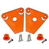 NeverBreak Igloo Cooler Latch Replacement | High Strength Igloo Cooler Replacement Parts | Set of 2 Orange Cooler Latches