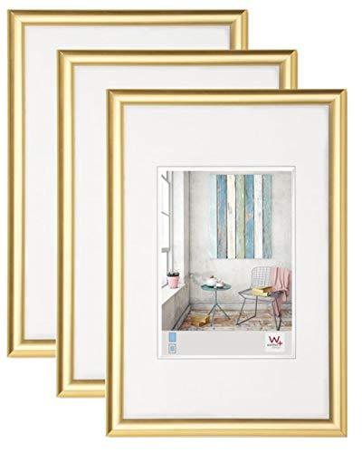 3er Pack Trendstyle Kunststoff-Rahmen 30 x 40 cm, GOLD