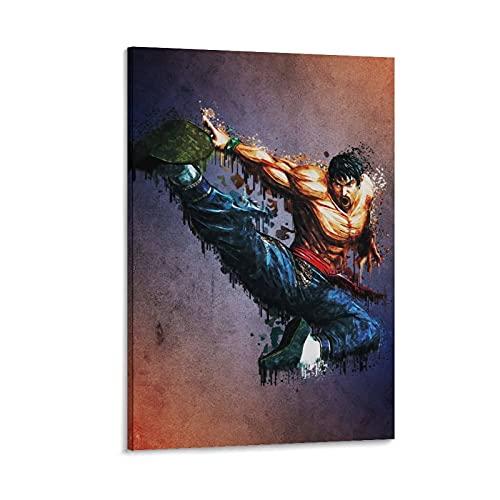 2488 Prawo Marszałkowskie Tekken Sztuka Plakat Nowoczesny Estetyczny Pokój Dekoracja do Domu Sypialni 24 × 36 cali (60 × 90 cm)