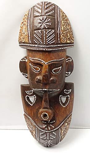 Figura Africana de Madera Tribal 31 cm x 11 cm