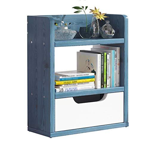 PIVFEDQX Estante de Escritorio pequeño para Libros para niños Tiendas de Videos Estación de Radio Estante de Almacenamiento de CD Oficina en casa Organizar el Soporte (Color: Blanco)