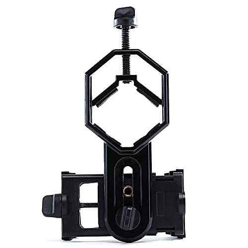 Smart Phone Adapter Mount for Universal Binocular Microscope Spotting Telescope Photographic Adjustable Stable Accessory Clip for Celestron Nexstar Planetas Cell Optics Camera Photography