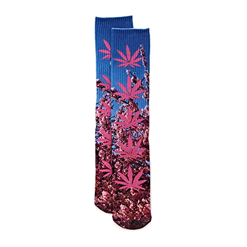 HUF Digital Plantlife Mens Fashion Socks One Size Pink