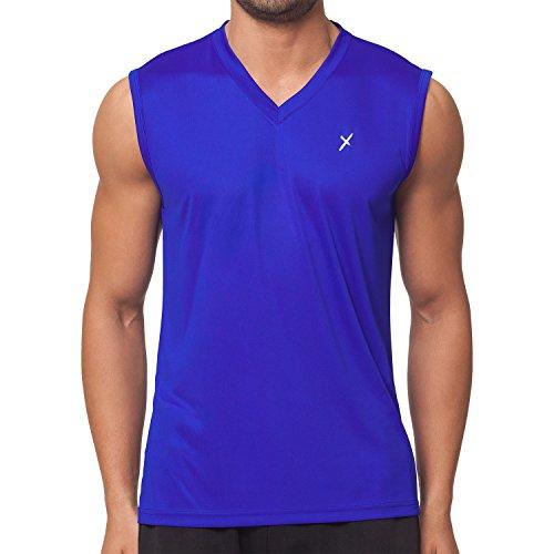CFLEX Herren Sport Shirt Fitness Muscle-Shirt Sportswear Collection - Royal S