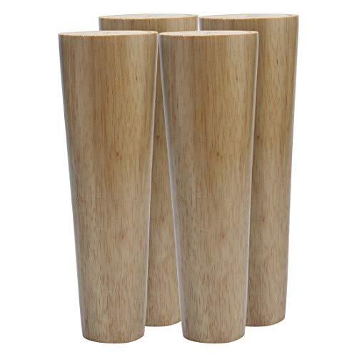 sourcing map Runde Holz Möbel Beine Sofa Couch Stuhl Tisch Schreibtisch Schrank Bank Füße Ersatz Höhe 20 cm, 4 Stück