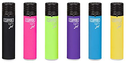 Clipper Jet Flame Soft Lighter Feuerzeug Elektrisch Special Edition Sets + All u Need Schlüsselanhänger Flaschenöffner Keyring Bottle Opener (Zufällig, 4)