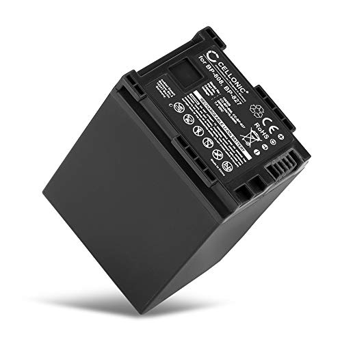 CELLONIC® Batería Compatible con Canon XA10 HG10 HG20 HG21 HF10 HF11 HF20 HF100 FS10 VIXIA HF G20 G10 LEGRIA GX10 HF G25 HF S100 S20 S21 HF M40 M30 M31 M46 HF200, BP-808 BP-827 2600mAh Pila Repuesto