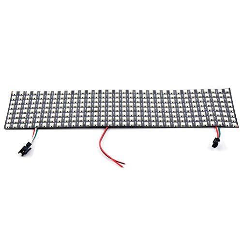 DZHT Matriz LED 16x16 Lámpara DIY WS2812B RGB Flexible Digital Flexible Direccionable Individualmente Tira de luz de píxel Lámpara WiFi DC5V (Size : 8x32 led Matrix)