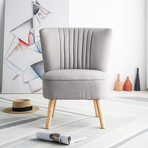 Harrogate Fabric Accent Occasional Tub Chair Armchair Lounge Bedroom Light Grey