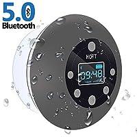 Tecnologia Bluetooth 5.0 e 10 ore di riproduzione: con la più recente tecnologia Bluetooth 5.0, questo altoparlante da doccia Bluetooth fornisce un accoppiamento più veloce, una connessione più stabile e una trasmissione del segnale senza interruzion...