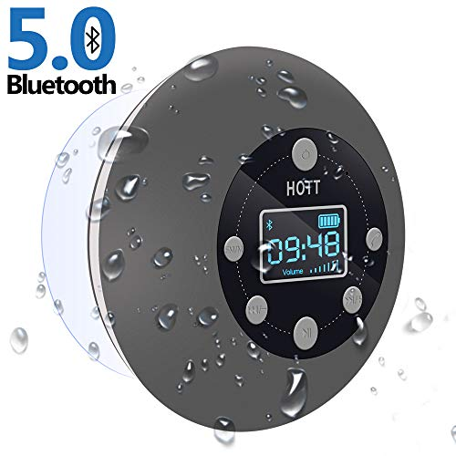 Shower Radio Bluetooth Speaker 5.0, HOTT Waterproof Wireless Bathroom Music...