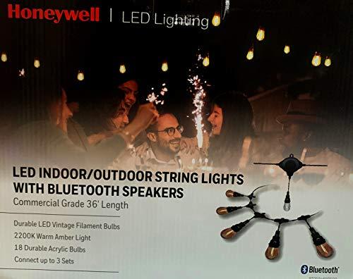 Honeywells 36' LED Indoor/Outdoor String Lights with Bluetooth Speakers