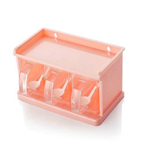 LYMUP Caja de plástico condimento Conjunto Cuadro de condimento Cruet (Color : 2)