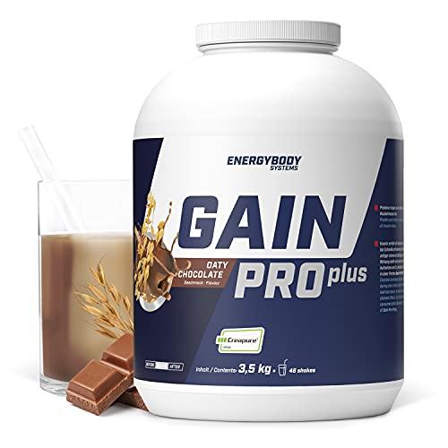 """Energybody Gain Pro Plus """"Schoko"""" 3.500 g / Masse Shake für Massephase mit Kreatin & Whey Protein / Weight Gainer zum Zunehmen / Mass Gainer / 46 Portionen"""