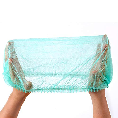 ZOENHOU 300 PCS 21 Inch Green Cap Nets, Lightweight Elastic Hair Nets Breathable Hair Head Cover Net for Food Service, Cooking