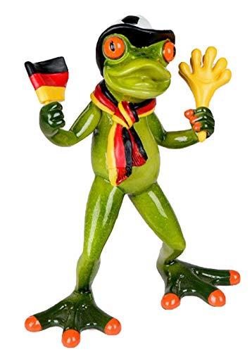 dekojohnson 117780 Figurine de grenouille amusante avec drapeau Vert clair 17 cm