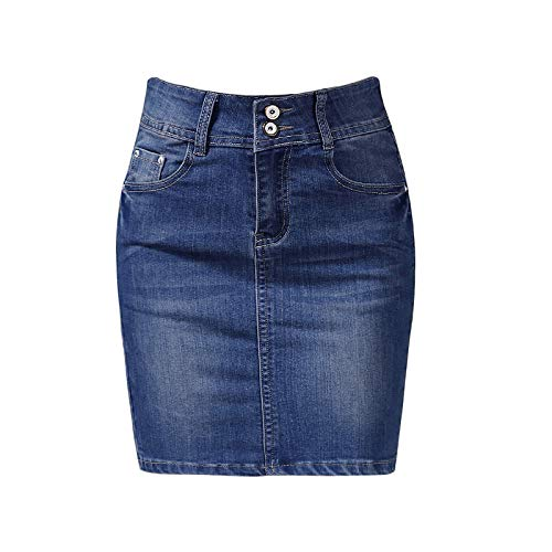 Nobrand Female Skirts Denim Plus Size Short Skirts Womens Bandage Mini Skirt Pencil Sexy High Waist Jeans Skirt