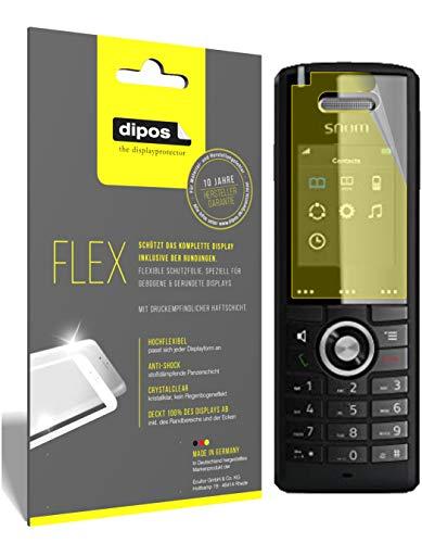 dipos I 3X Schutzfolie 100prozent kompatibel mit SNOM M65-C50 DECT Folie (Vollständige Bildschirmabdeckung) Bildschirmschutzfolie