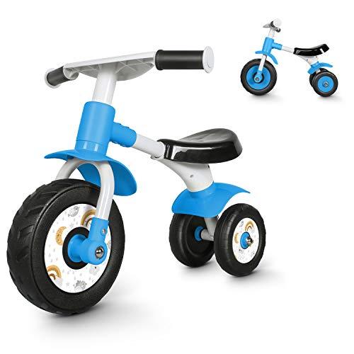 besrey Bicicletta Senza Pedali,Bici Senza Pedali per Bambini da 1 Anno a 2 Anni (10-24 Mesi),Balance Bike Baby,Bicicletta Equilibrio,Blu