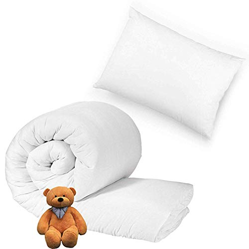 Sleep&Snuggle Luxury Anti-Allergy Baby Cot Bed Duvet with Pillow - Hollowfibre Soft Filling-Hypoallergenic Cover (9 Tog)