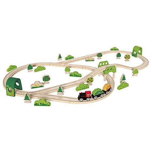 Hape - E3713 - Circuit de Train en Bois - Coffret Forêt