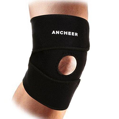 ANCHEER Einstellbare Atmungsaktives Sport Knieschoner knieschützer Kniestütze Kniebandage Schwarz