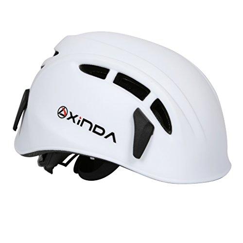 【ノーブランド品】 ハーフドーム ライミング用ヘルメット登山用ヘルメット防護帽 キャンプ アウトドア 装備 旅行用品 釣り帽子救援  全7色 - 白