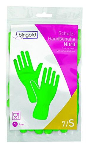 Guantes de nitrilo reutilizables, 1 par, tallas S, M, L o XL, azul o verde, S, verde, 1