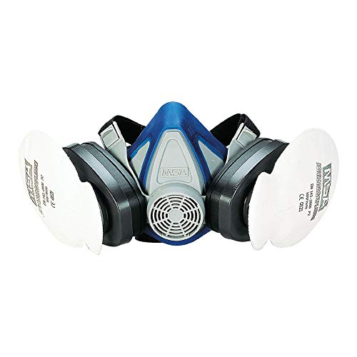 MSA Advantage 200 LS | Semimaschera | Semimaschera antigas di sicurezza per protezione e comfort | Attacco filtro a baionetta |Taglia Media | EN 140