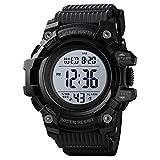 Skmei Sports Watch Men,Digital 5 ATM Watreproof Watches Military Multifunction Display EL Light Wristwatch with Alarm (Large1522Black)