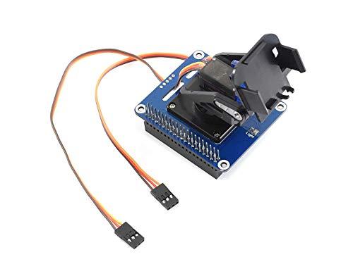 IBest Mini 2-DOF pan-tilt HAT Kit with Micro Servos for Raspberry Pi Zero/Zero W/Zero WH/2B/3B/3B+ Allow Pi to Control Camera Movement and Sense Light Intensity with I2C Interface