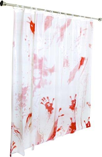Kangaroo's Bloody Shower Curtain Halloween Decoration; (Double-Sided))))