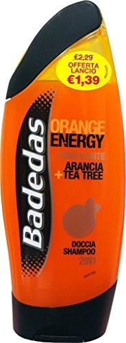 6 x BADEDAS Doccia Shampoo Orange Energy 250 Ml