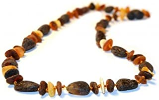 The Art of Cure Baltic Amber Necklace 17 Inch (Raw Fancy) - Anti-inflammatory