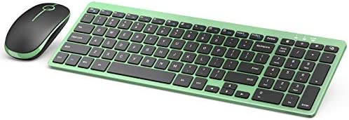 Wireless Keyboard and Mouse Jelly Comb 2 4G Ultra Slim Wireless Keyboard Mouse Combo with 12 product image