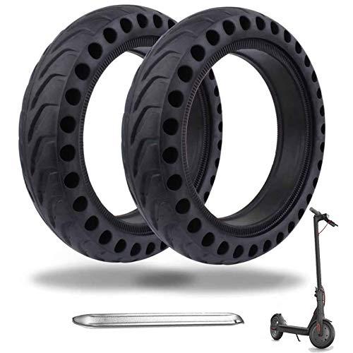 OUXI Xiaomi M365 Reifen, 8,5 Zoll Ersatzreifen Solid Reifen Mit 1 Montagewerkzeug Für Mijia Mi Xiaomi M365/M365 Pro Elektro-Scooter Gummi Tyre Reifen, 8.5 Zoll Ersatzräder(2 pcs)