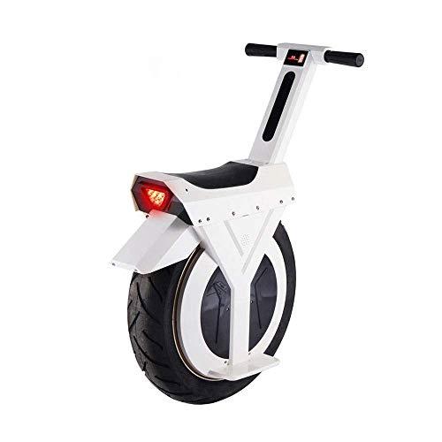 CTO Rollstuhl 60V 7.8Ah 500W Selbstausgleich Elektroroller Einrad Einrad Motorrad Roller Einrad Schubkarre Skateboard,Weiß,60KM