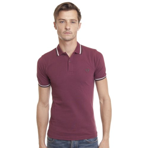 FRED PERRY - Sweater - Polo bordeaux Fred Perry - 2 - S - Bordeaux