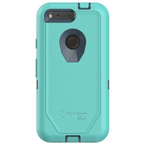"OtterBox 77-54256 Defender Series Case for Google Pixel (5"" Version ONLY) - Retail Packaging - Borealis (TEMPTEST Blue/Aqua Mint)"