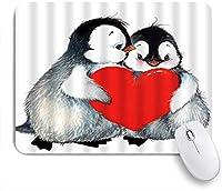 ZOMOY マウスパッド 個性的 おしゃれ 柔軟 かわいい ゴム製裏面 ゲーミングマウスパッド PC ノートパソコン オフィス用 デスクマット 滑り止め 耐久性が良い おもしろいパターン (ペンギンロマンスの動物スケッチハート面白いユーモアデザインを保持しているかわいいペンギン愛好家のスタイル)