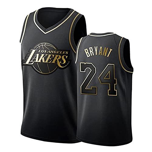 SHUWNSJ Uniformes De Baloncesto, Los Ángeles # 24 Kobe Swingman Bordado Malla Transpirable Resistente Al Desgaste Swingman Camiseta De Aficionado Al Baloncesto (D,Small)