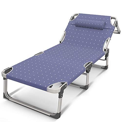 LLSS Sillones reclinables Increíble sillón de salón Cama Plegable portátil Ajuste de 4 velocidades Ampliación Triple Cama de Campamento de Oficina Individual