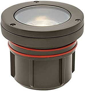 Hinkley Landscape Lighting Flat Top Well Light – Flat Top Landscape Light Highlights Important Landscape Features and Surfaces and Increases Home Security, Bronze Finish, 15702BZ