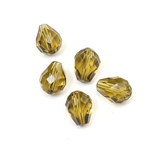 Adabele - Perline di cristallo austriache a goccia, compatibili con cristalli Swarovski per orecchini, bracciali, cavigliere, collane, portachiavi, gioielli artigianali 8mm x 6mm Kimly Cage