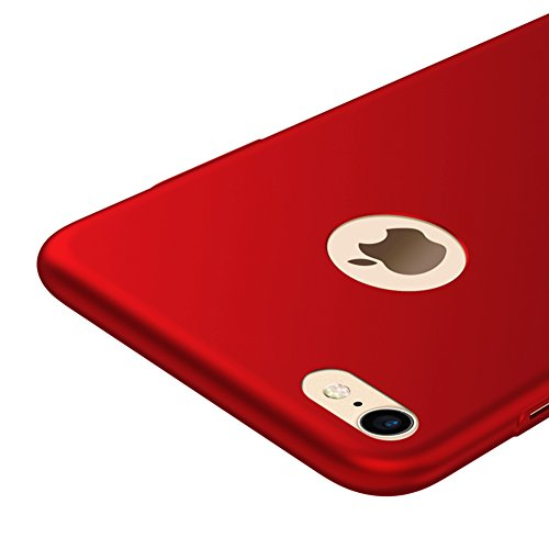 Vooway Rosso/Red Ultra Sottile Custodia Cover Case + Pellicola Protettiva per Apple iPhone 7 MS70341