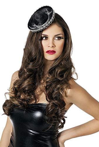narrenkiste W9939 - Sombrero mexicano de color negro y plateado