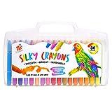 TBC The Best Crafts Crayon de Cire Enfant, 36 Couleurs Crayons Peinture Cire Lavables Non Toxique pour Tout-Petites Bébé Enfants
