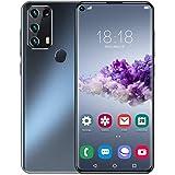 Smartphones desbloqueados, teléfono móvil con pantalla HD de 7.2 pulgadas, Android 10.0,48MP / 18MP 4 cámaras, teléfono 4G Dual SIM, 4400mAh, huella digital / identificación facial, 12GB + 512GB,Negro